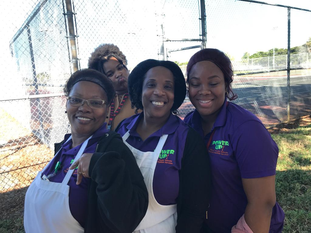 BAHS Kitchen Staff Members Betty Young, Patricia Westley and Faith Jalieba