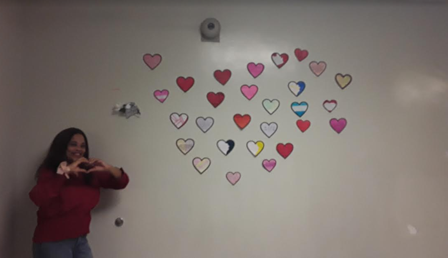 Mrs. Taylor with Parkland Hearts